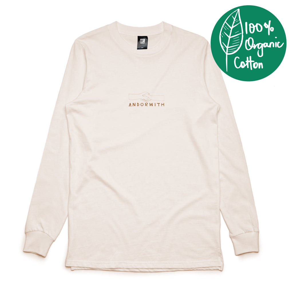 Together-Long-sleeve-T-shirt- Organic-Cream-andorwith-surf-and-skate-wear