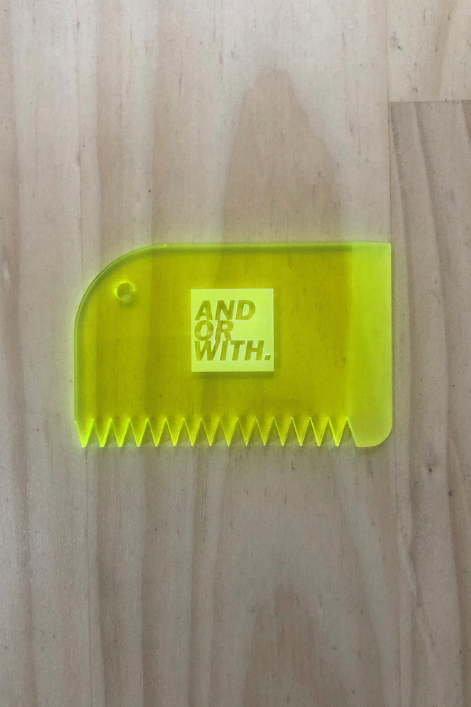 Logo Wax Comb Fluro Yellow
