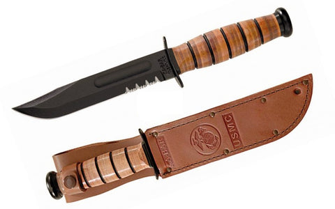 KA-BAR USMC Serrated Edge Leather Sheath 1218