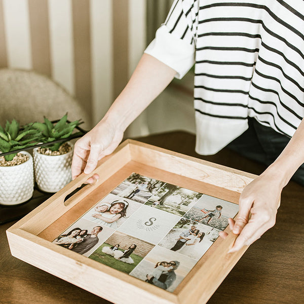 Wooden Photo Tray
