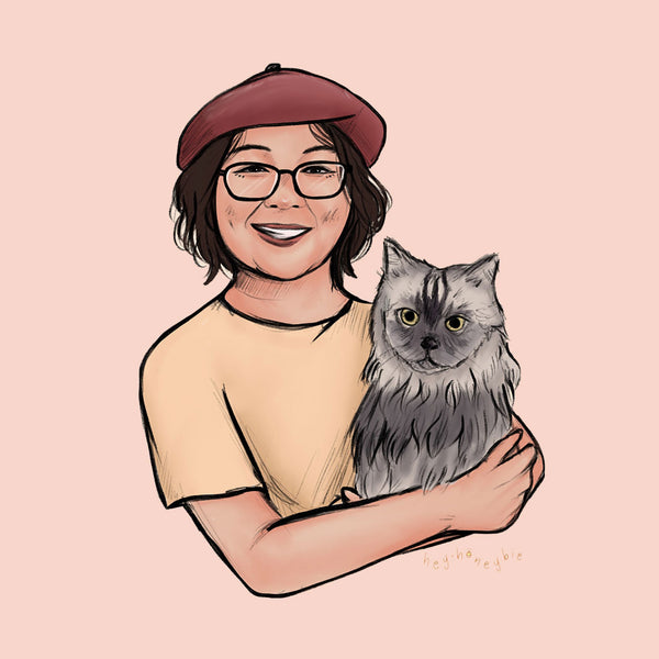 Pet Pawtrait - with Hooman by Abie Diola
