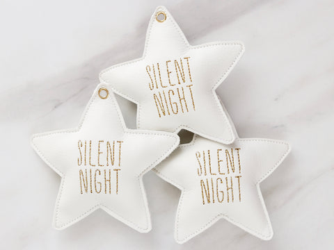 "Stern ""Silent Night"" Dekoration"