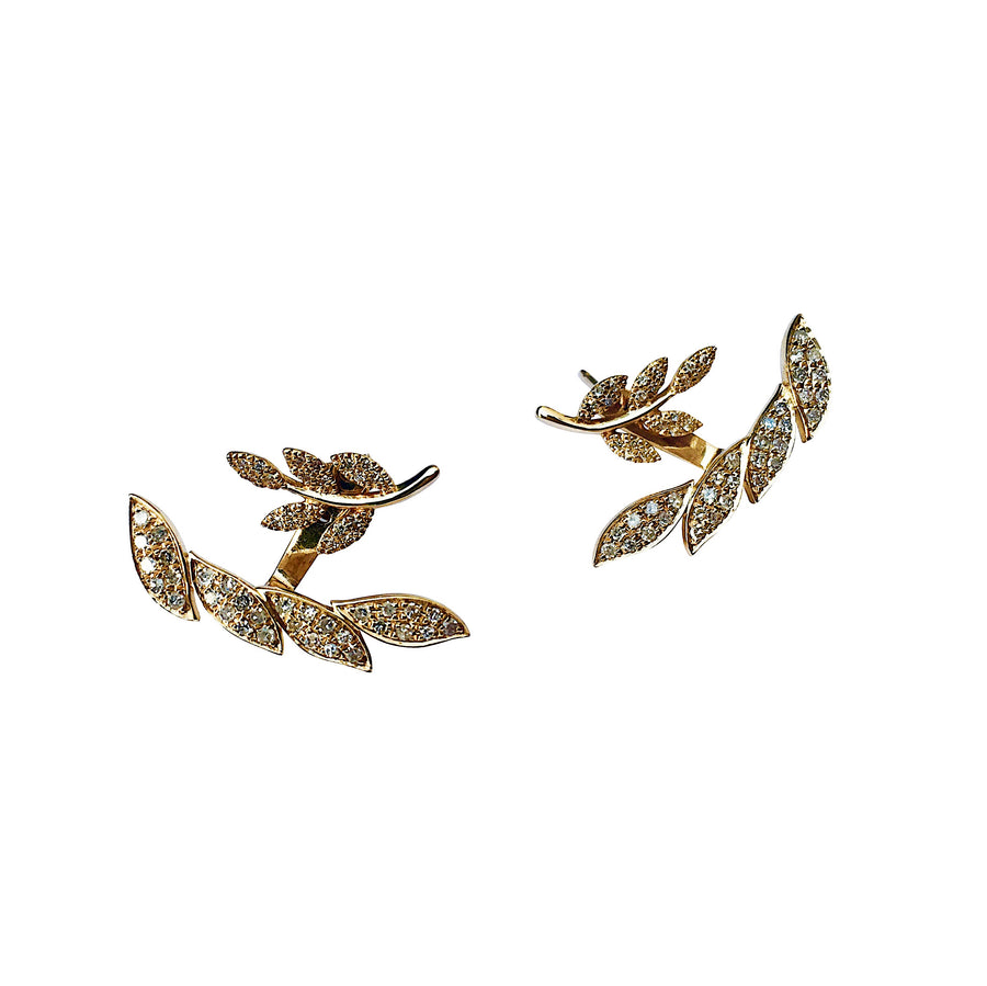 Diamond leaf earrings- SUITS