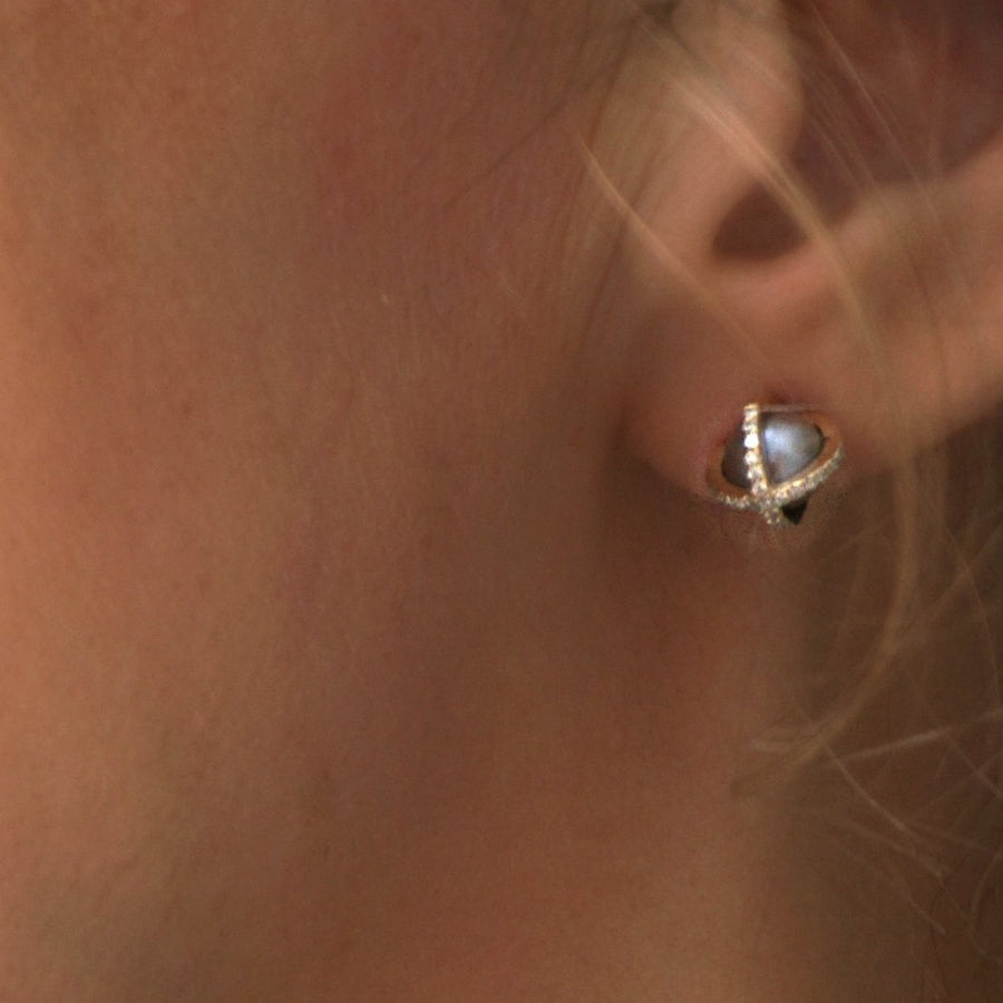Pearl and Diamond studs