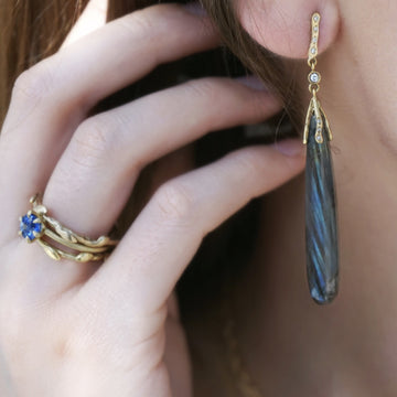 Labradorite drop earrings