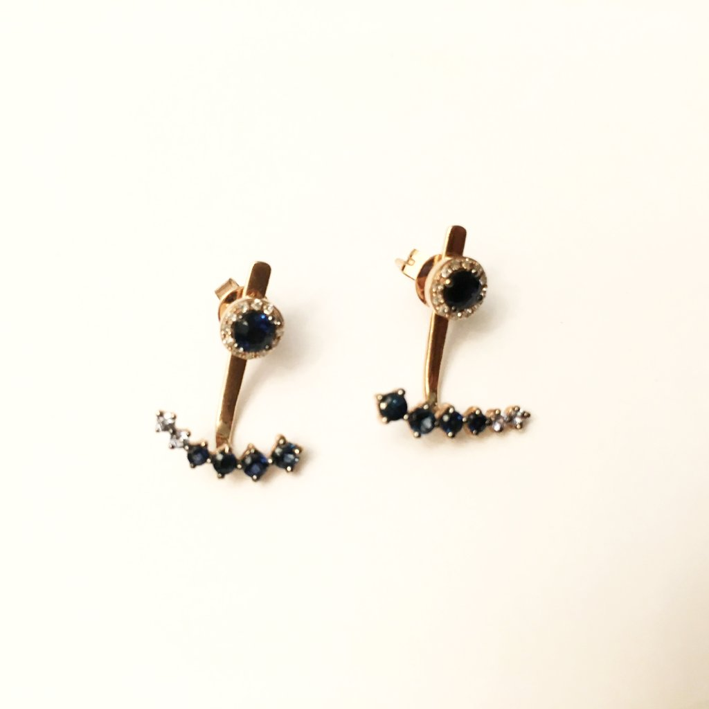 Sapphire earrings- SUITS