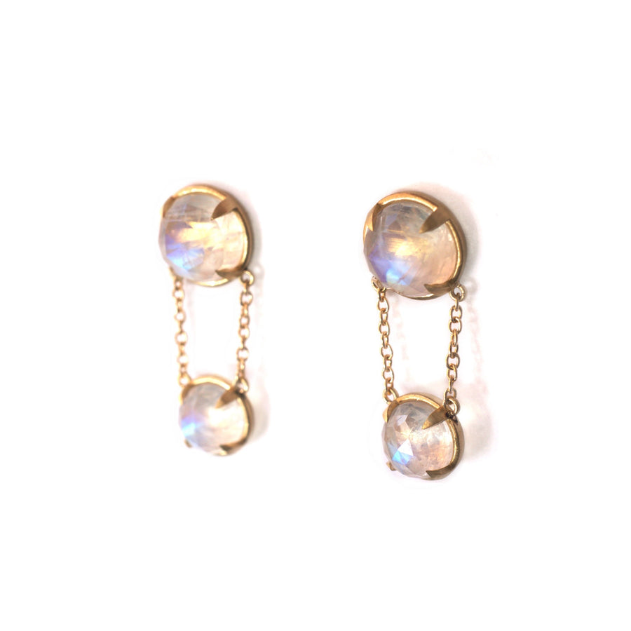 Rose Moonstone Earrings