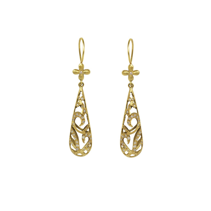 Yellow gold Cutout Earrings