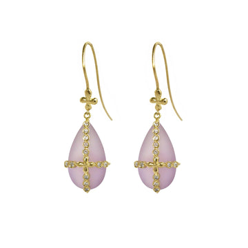 Rose The France Earrings