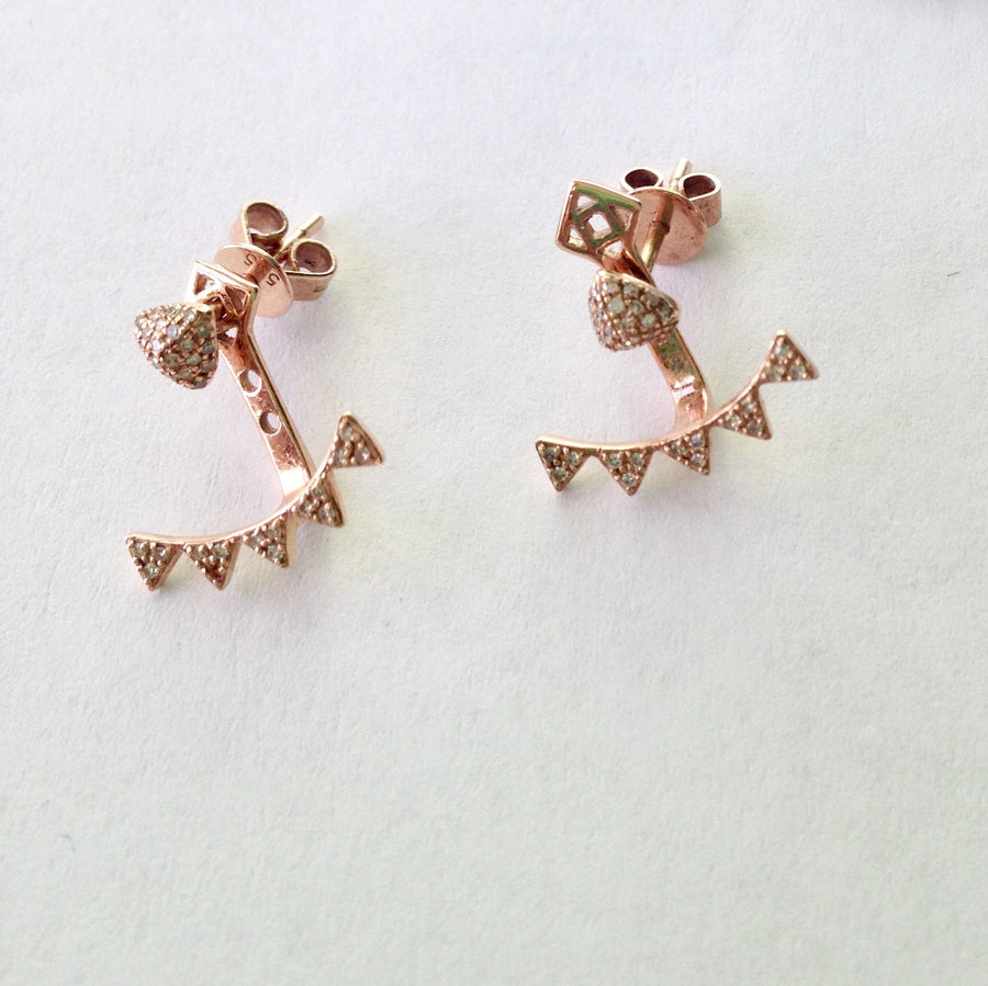 Triangle earrings- SUITS