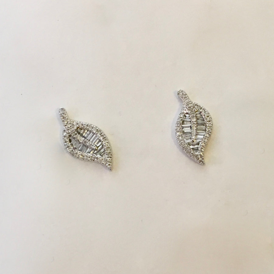Baguette diamond studs- SUITS