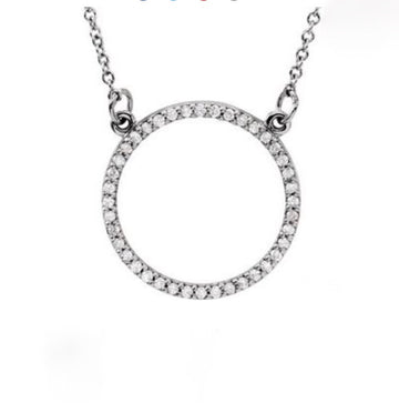 Circle necklace- SUITS