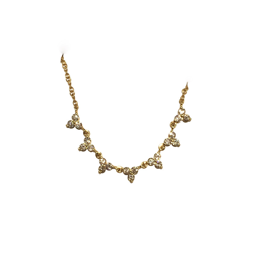 Diamond clusters necklace- SUITS