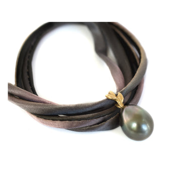 Silk/Pearl convertible bracelet/necklace