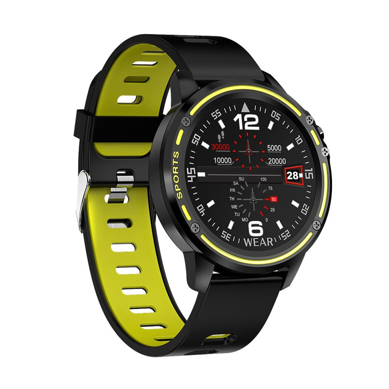 Smart Watch Men L8 Sports Fitness IP68 a Prova D'água Verde