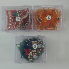 Handicraft Designer Rangoli - Jewel Stone Decorations Multi Colour 7 piece set