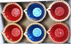 Decorative diya Set of 6 pieces handicraft clay diya