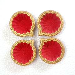 Decorative diya Set of 10 pieces handicraft clay diya
