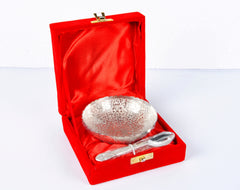Silver Coated Bowl in a Red color box - Item Code 100