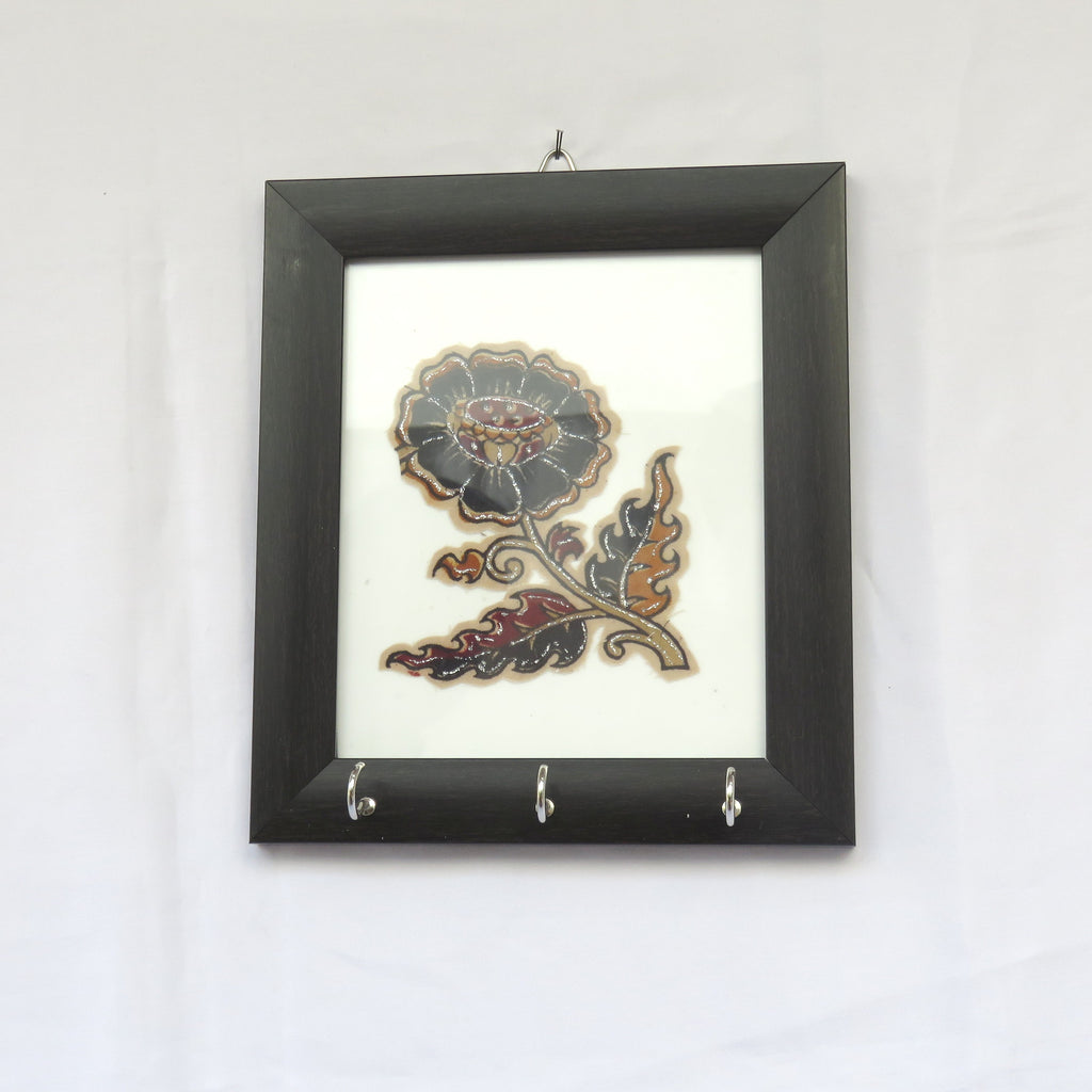 Kalamkari Key Hanger Flower Design