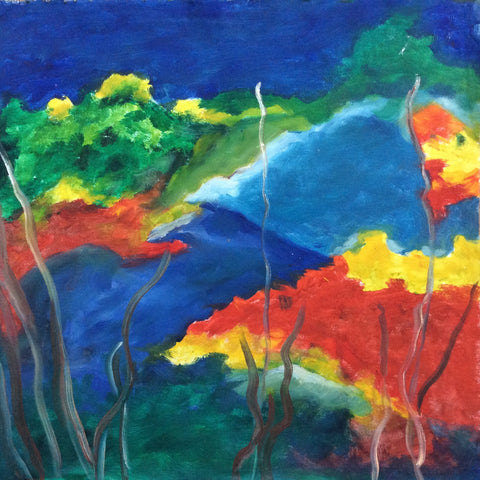 Abstract ,Nature ,3, Oil Painting on Canvas 48 cm x 48cm Unframed
