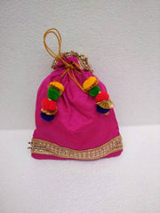 Silk colored Potli bags