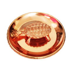 Tortoise Turtle with Plate / Copper Coated