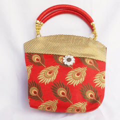 Ladies Hand Bag - Feather Design