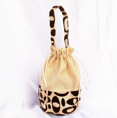 Designer Jute Potli Bag - Big Size