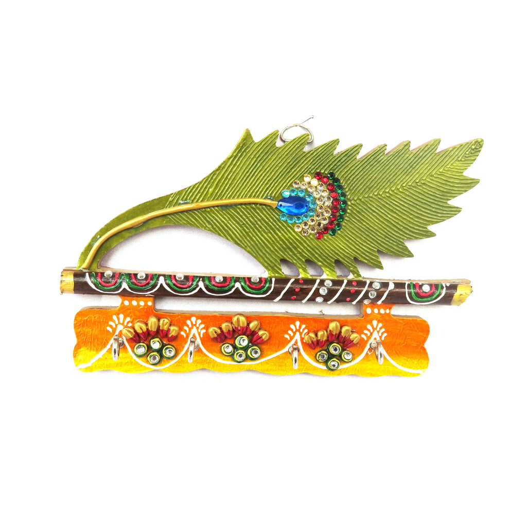 Peacock Feather Designer Key Hanger