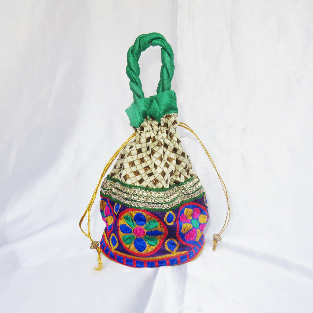 Multi Coloured Designer Potli Bag