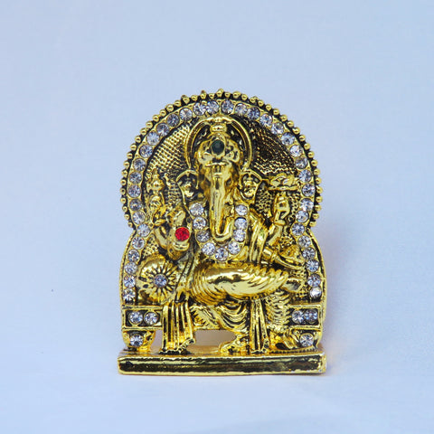 Gold Colour Ganesha Idol