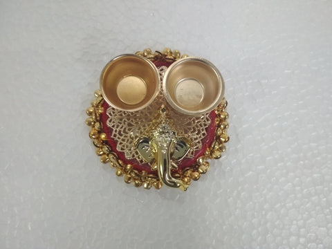 Decorative Ganesha Haldi Kumkum  Holder