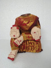Mahalaxmi cloth idol without face /small size