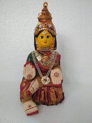 Mahalakshmi cloth idol with face full set
