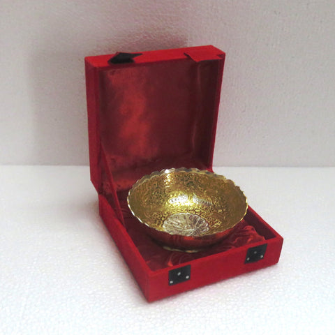 Bowl Silver & Gold Plated - Item Code 297