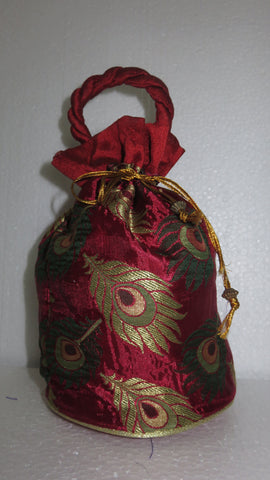 Feather Design Potli Bag