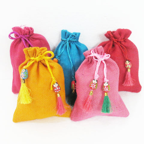 Jute Puppet Potlibags