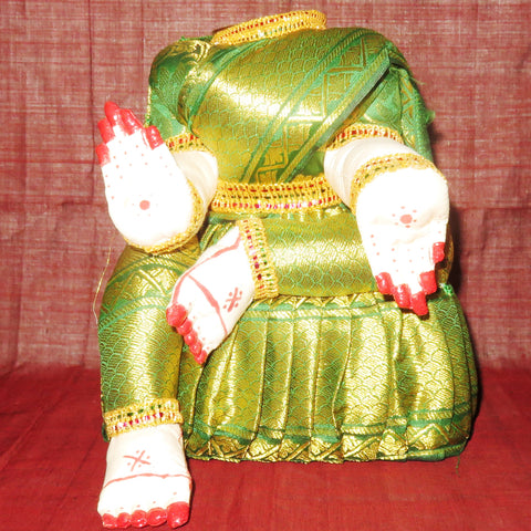 Mahalaxmi cloth idol without face