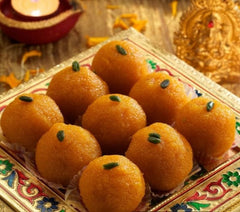 Motichur Laddu & Assorted Dry fruits Pack from Pulla Reddy Sweets