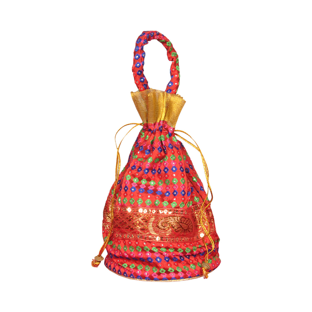Dotted Potli Bag