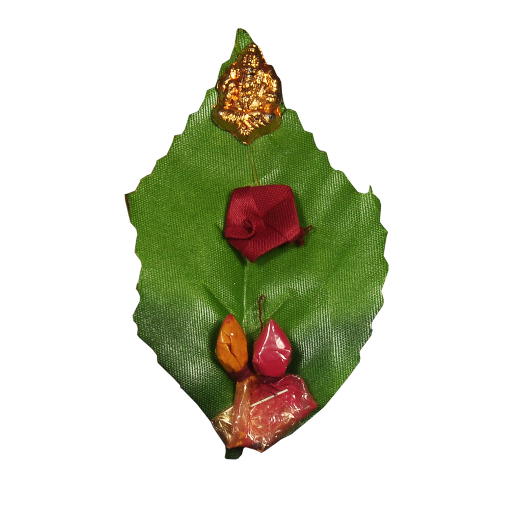 Leaf style Pasupu and Kumkum packets