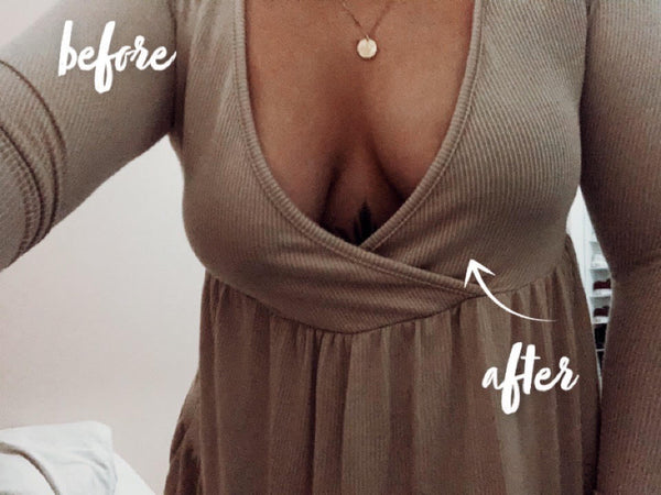 before and after she's perky lifting adhesive bra