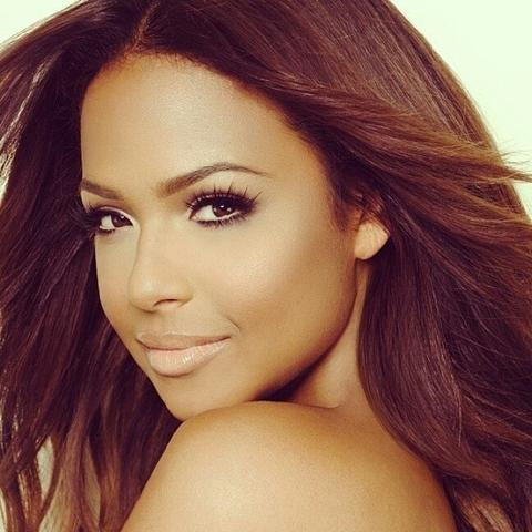 Lashlorette ESQIDO lashes seen on Christina Milian
