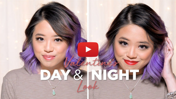 Day and Night Makeup for Valentine's Day