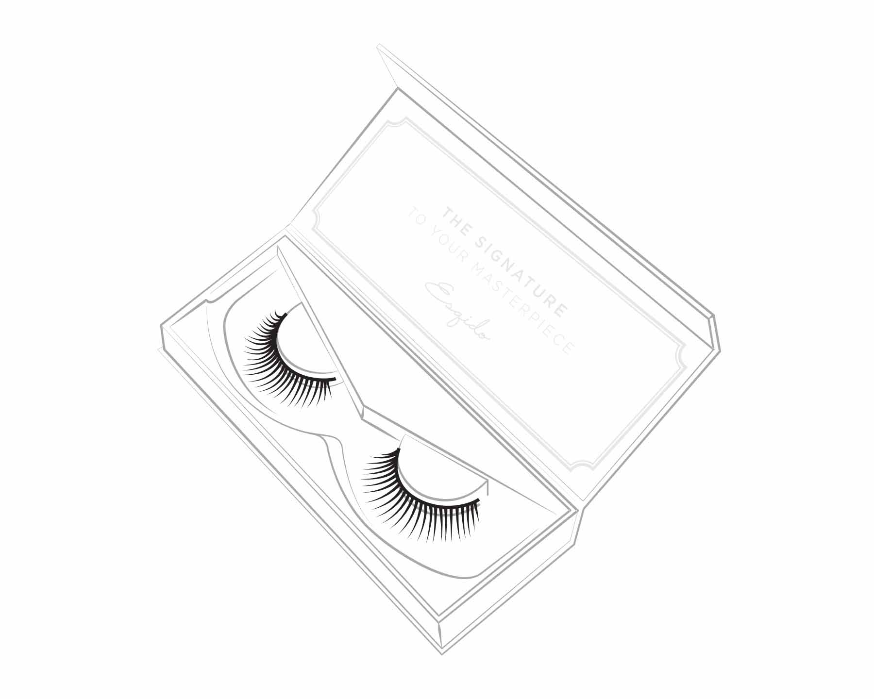 Adhere and hold to the base of your lash line