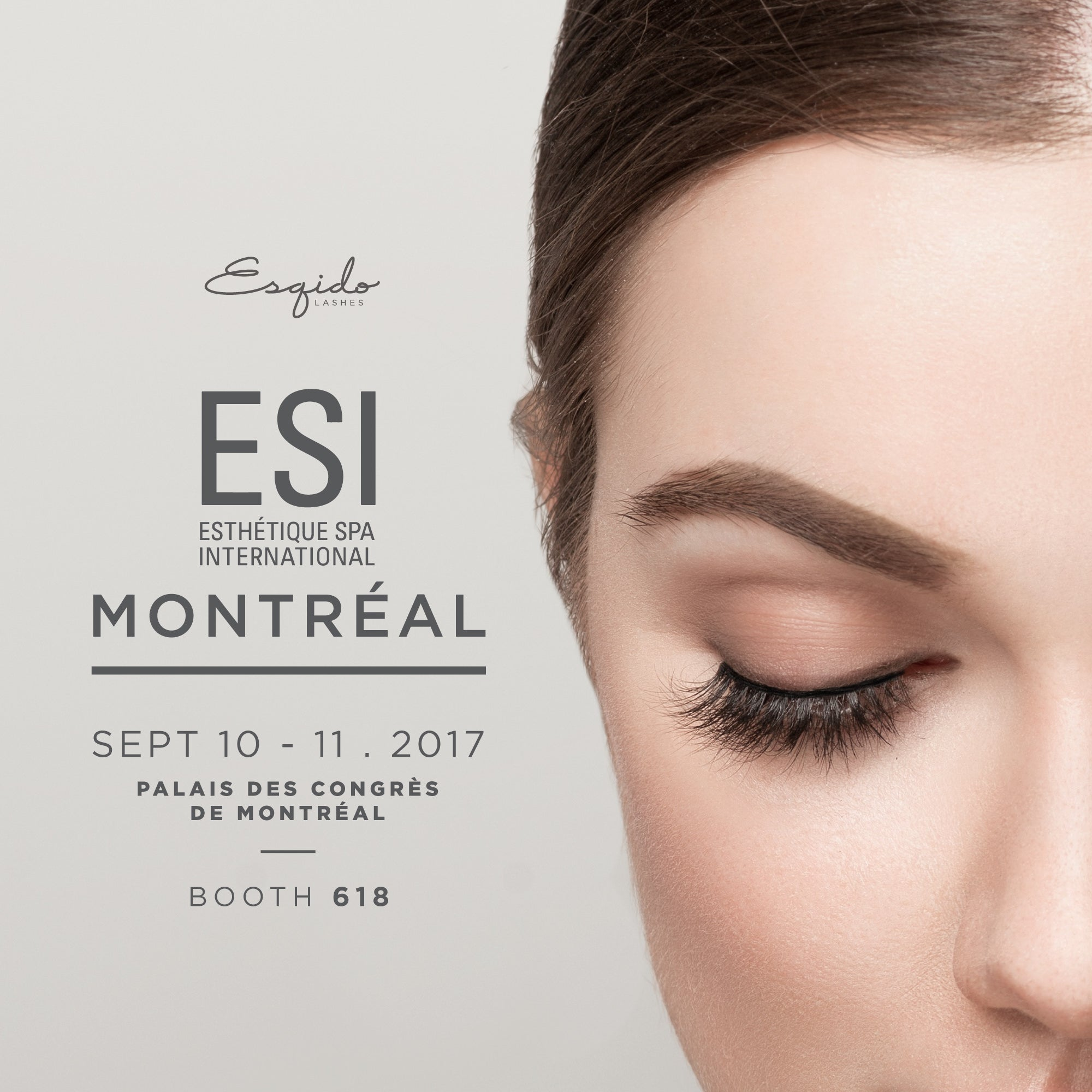 ESI Montreal 2017 with Esqido Lashes
