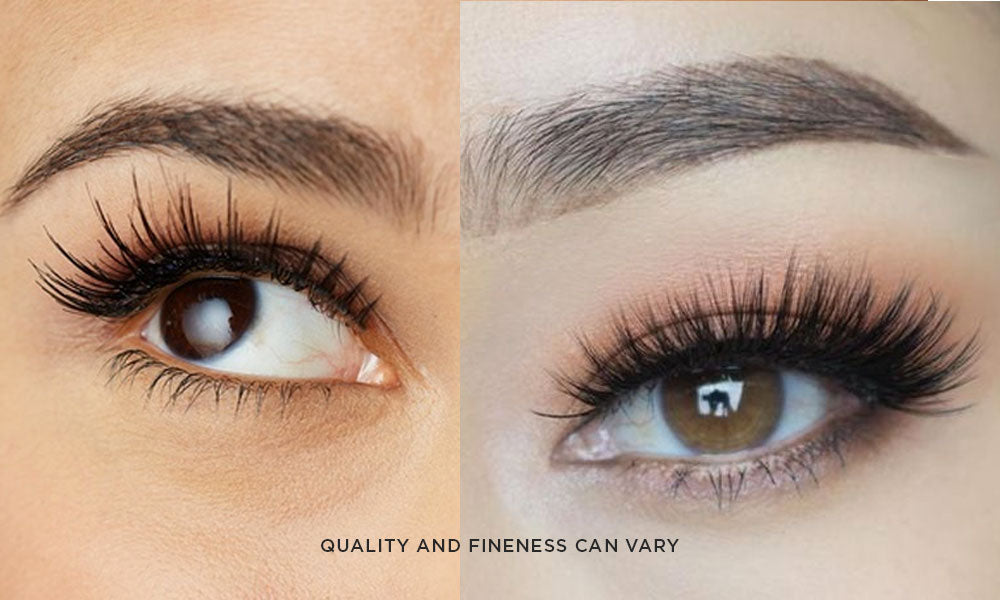 90cdfc120c5 The quality and fineness of silk and faux mink lashes can differ depending  on the brand