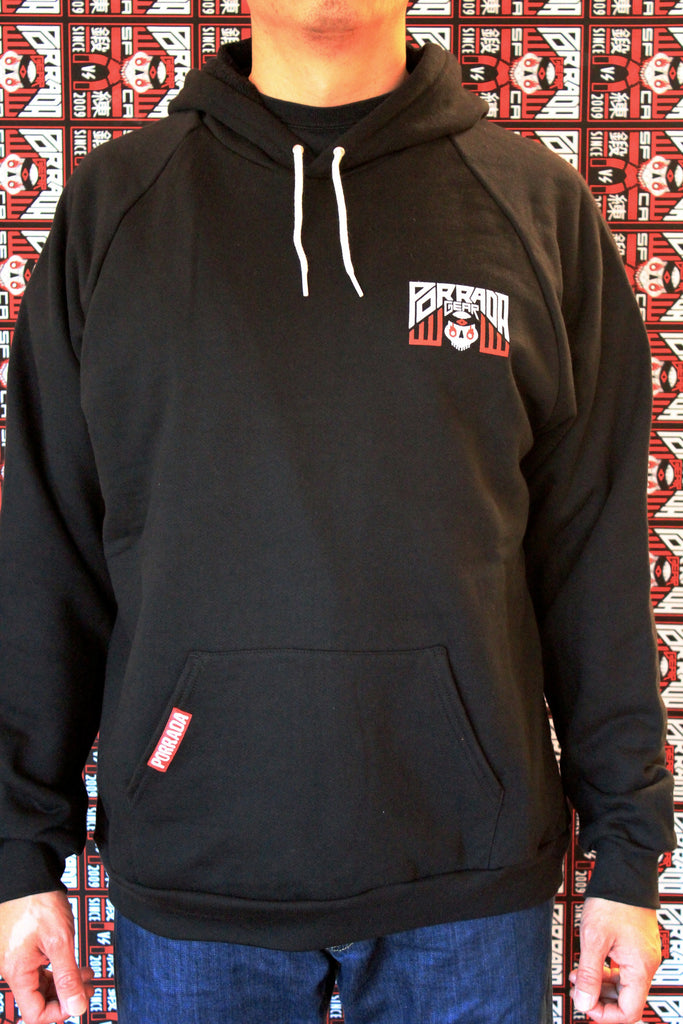 Porrada Gear™ SF Gate Classic Hoody Black and Red Belt