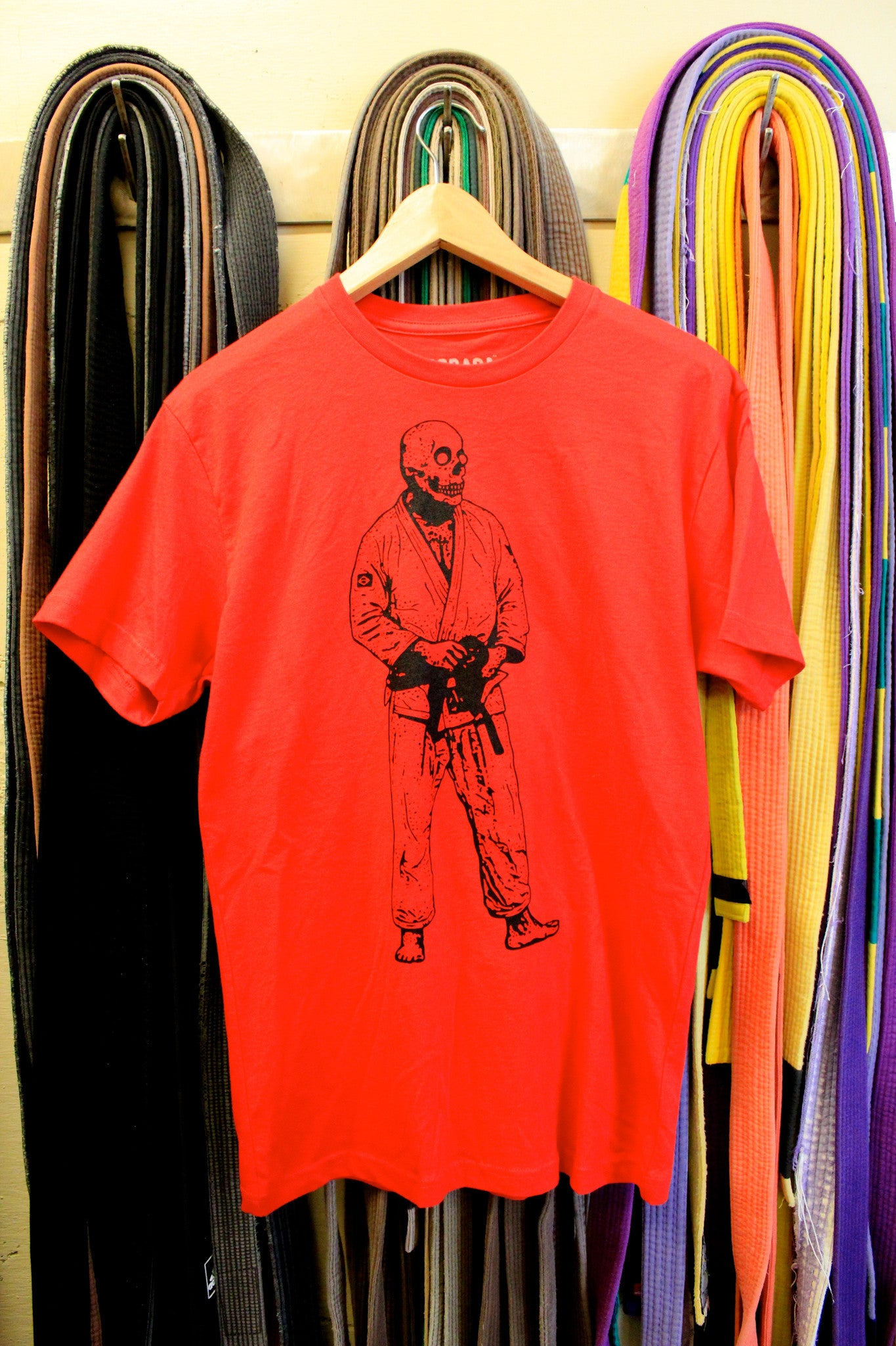 BJJ Skull Guy Red and Black T-Shirt